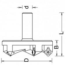 Фреза для выравнивания поверхности, слэбов со сменными ножами DIMAR 63x21x66x12 Z3 8073219