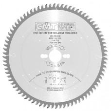 Пильный диск по двусторонним ламинированным панелям CMT 250x30x3.2/2.2x80 283.080.10M