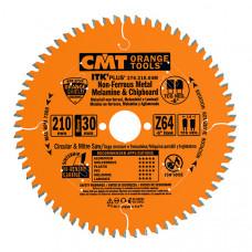 Пильный диск по цветным металлам и композитным материалам CMT 184x20(16-15.87)x1.8/1.2x48 276.184.48H