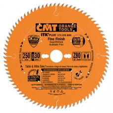 Пильный диск торцовочный с тонким пропилом CMT 160x20/16x1.7/1.1x56 273.160.56H