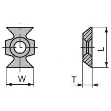 Пластина твердосплавная сменная Ceratizit 16x22x5.0 45º мм KCR08 11498133