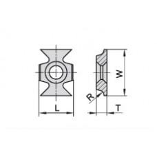 Пластина твердосплавная сменная Ceratizit 16x22x5.0 R=3.0 мм KCR08 11498136