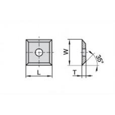 Пластина твердосплавная сменная Ceratizit 10.5x10.5x1.5 мм KCR08 80360027