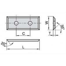 Пластина твердосплавная сменная 29.5x12x1.5 C=14 мм KCR02+ 12054381