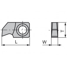 Пластина твердосплавная сменная 24.5x13x4.0 мм CTOPP10 11921646