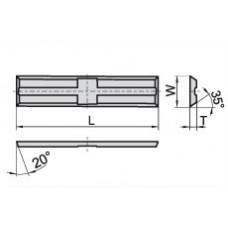 Пластина твердосплавная сменная 50x5.5x1.1 мм KCR08 11998686