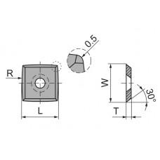 Пластина твердосплавная сменная Ceratizit 15x15x2.5 R115 R05 мм KCR08 82019711