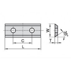 Пластина твердосплавная сменная 50x12x1.5 C=26 мм KCR08 80358835