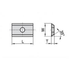 Пластина твердосплавная сменная 7.6x12x1.5 мм KCR08 12142499