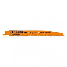 Пилки сабельные 5 штук для дерева и металла BIM 200x2,1-4,3x6-12TPI CMT JS3456XF-5
