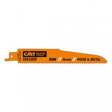 Пилки сабельные 5 штук для дерева и металла BIM 150x3,2-5x5-8TPI CMT JS610VF-5