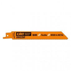 Пилки сабельные 5 штук для дерева и металла BIM 150x1,8-2,6x10-14TPI CMT JS922VF-5