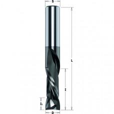 Фреза спиральная монолитная двунаправленный рез Z2+2 с покрытием DLCS CMT 10x32x80x10 190.100.41