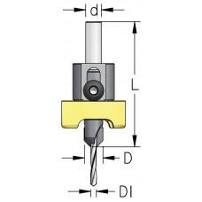 Сверло-зенковка со стопорным кольцом без вмятин WPW D1=5 D=10 L=65 d=10 ALB5017SC