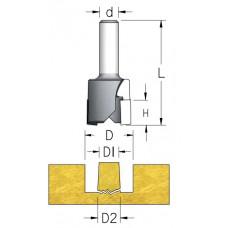 Пробочное коническое твердосплавное сверло WPW D1=12 D2=13 D=27.5 H=16 L=72 d=12 MNK1302