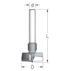 Сверло чашечное с цилиндрическим хвостовиком WPW D=19 L=85 d=10 MP19007