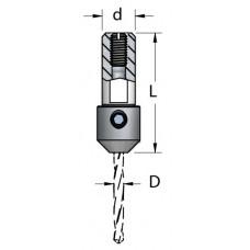 Адаптер для присадочного станка WPW D=4 L=38 d=10x22 TA10040