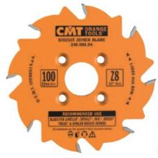 Пила пазовая для шпоночного соединения CMT 100x22x3.96/3.1-3.8x8 241.008.04