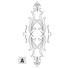 Комплект 2 шаблонов для фрезерования (двери A) CMT RCS-302