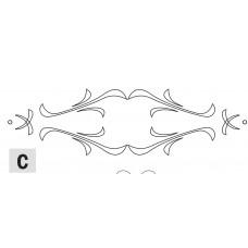Комплект 1 шаблонов для фрезерования (рисунок C) CMT RCS-505