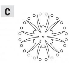 Комплект 2 шаблонов для фрезерования (розетка C) CMT RCS-703