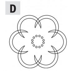 Комплект 2 шаблонов для фрезерования (розетка D) CMT RCS-704