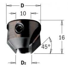 Зенкер для крепления на сверле с 2-мя канавками CMT D2=5-10 D=20 LH 315.200.12
