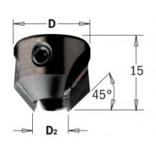 Зенкер для крепления на сверле с 4-мя канавками CMT D2=4 D=16 LH 316.040.12