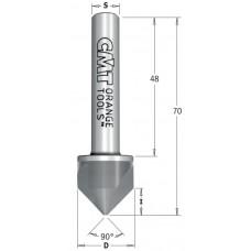 Зенкер 90° с цилиндрическим хвостовиком HWM CMT D19.5x9x70 S10x48 521.002.11