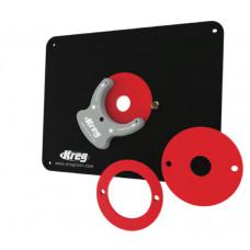 Пластина без отверстий для крепления фрезера во фрезерный стол с 3-мя кольцами Kreg PRS4038