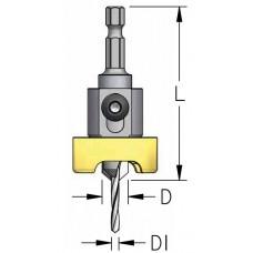 Сверло-зенковка с ограничителем быстросменное WPW D1=2.4 D=9.5 L=66 ABB2404S