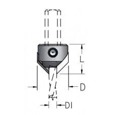 Зенковка для крепления на сверле D1=10 D=20 L=18 AC3100L