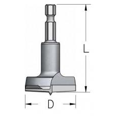 Сверло чашечное быстросменное для ручного инструмента WPW 15x58 HMPT154